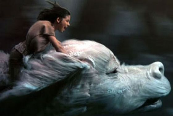 Falcor the Luck Dragon from the Universal Pictures film, The Neverending Story