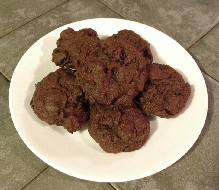 chocolate orange cherry cookies you are not so smart