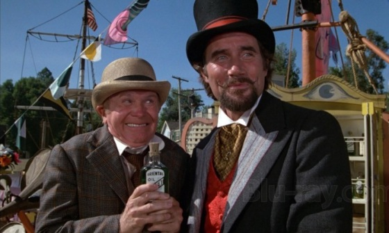 "Dr. Terminus, the snake oil salesman from Disney's ""Pete's Dragon"""