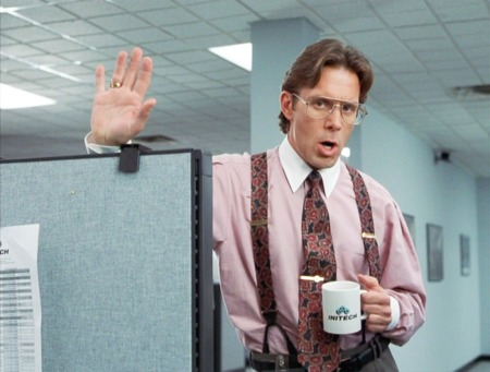 A scene from Office Space - 20th Century Fox